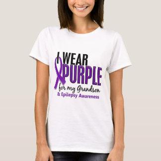 Llevo la púrpura para mi epilepsia del nieto 10 playera