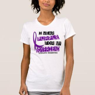 Llevo la púrpura para mi epilepsia del novio 37 camisetas