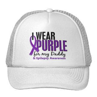 Llevo la púrpura para mi epilepsia del papá 10 gorras de camionero