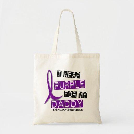 Llevo la púrpura para mi epilepsia del papá 37 bolsa tela barata