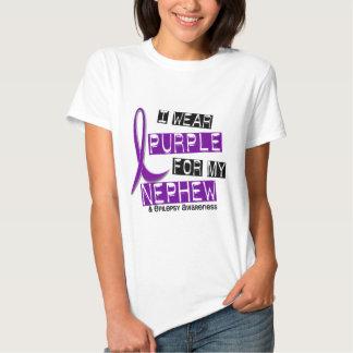 Llevo la púrpura para mi epilepsia del sobrino 37 playera