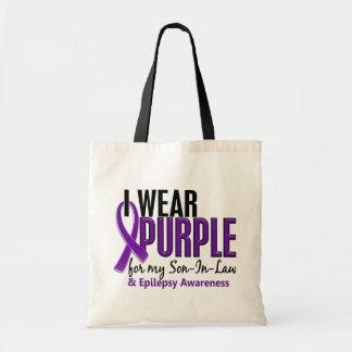 Llevo la púrpura para mi epilepsia del yerno 10 bolsa tela barata