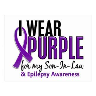 Llevo la púrpura para mi epilepsia del yerno 10 tarjeta postal