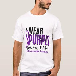 Llevo la púrpura para mi Fibromyalgia de la esposa Playera