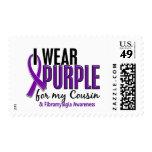 Llevo la púrpura para mi Fibromyalgia del primo 10 Sellos