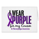 Llevo la púrpura para mi Fibromyalgia del primo 10 Tarjetas