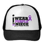 Llevo la púrpura para mi fibrosis quística de la s gorros bordados