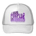 Llevo la púrpura para mi fibrosis quística del nie gorro de camionero