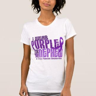 Llevo la púrpura para mi fibrosis quística del camisetas