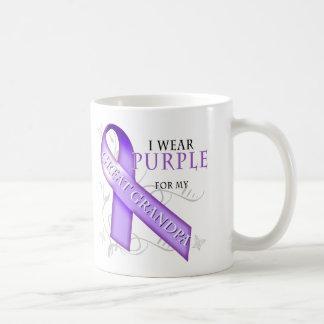 Llevo la púrpura para mi gran abuelo taza de café