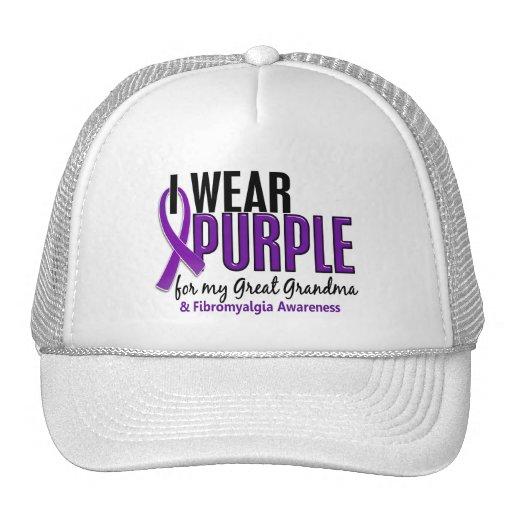 Llevo la púrpura para mi gran Fibromyalgia de la a Gorro De Camionero