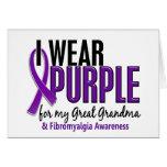 Llevo la púrpura para mi gran Fibromyalgia de la a Tarjetón