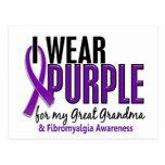 Llevo la púrpura para mi gran Fibromyalgia de la a Tarjeta Postal