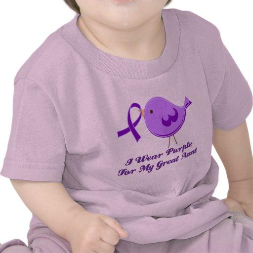 Llevo la púrpura para mi gran tía camisetas