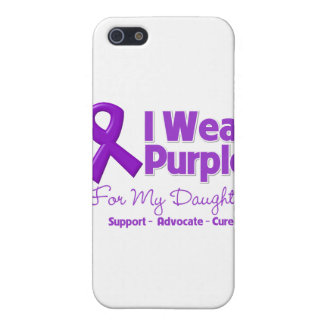 Llevo la púrpura para mi hija iPhone 5 funda
