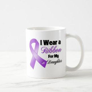 Llevo la púrpura para mi hija taza de café
