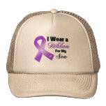 Llevo la púrpura para mi hijo gorras de camionero
