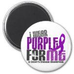 Llevo la púrpura para MÍ la enfermedad de 6 Crohne Imanes Para Frigoríficos