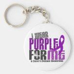 Llevo la púrpura para MÍ la enfermedad de 6 Crohne Llavero Personalizado