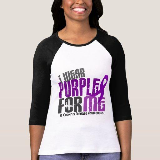 Llevo la púrpura para MÍ la enfermedad de 6 Crohne Camiseta