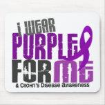 Llevo la púrpura para MÍ la enfermedad de 6 Crohne Alfombrillas De Ratón