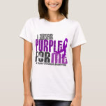 Llevo la púrpura para MÍ la enfermedad de 6 Playera