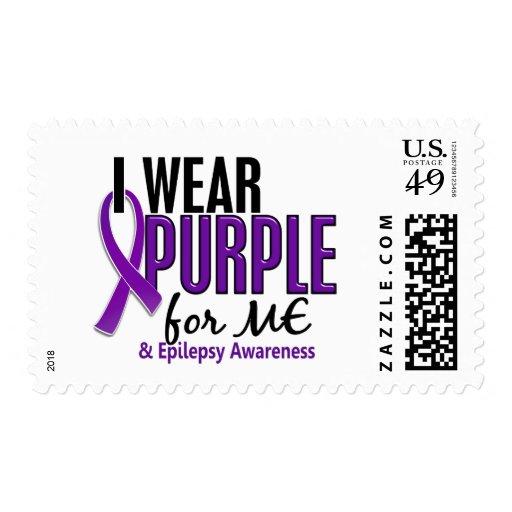 Llevo la púrpura para MÍ la epilepsia 10 Franqueo