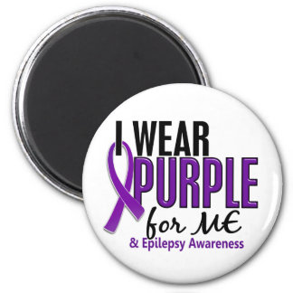 Llevo la púrpura para MÍ la epilepsia 10 Imán Redondo 5 Cm