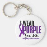 Llevo la púrpura para MÍ la epilepsia 10 Llavero Personalizado