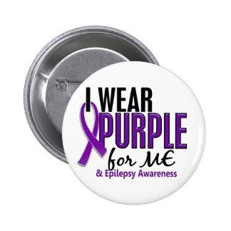 Llevo la púrpura para MÍ la epilepsia 10 Pin Redondo De 2 Pulgadas
