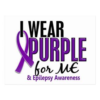 Llevo la púrpura para MÍ la epilepsia 10 Tarjetas Postales