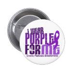 Llevo la púrpura para mí la fibrosis quística 6,4 pin