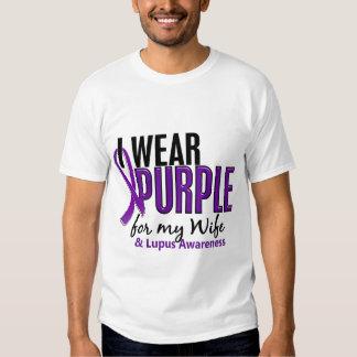Llevo la púrpura para mi lupus de la esposa 10 playera