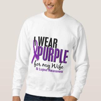Llevo la púrpura para mi lupus de la esposa 10 sudadera