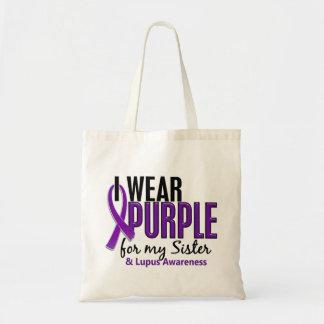 Llevo la púrpura para mi lupus de la hermana 10 bolsa tela barata