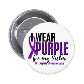 Llevo la púrpura para mi lupus de la hermana 10 pin redondo de 2 pulgadas