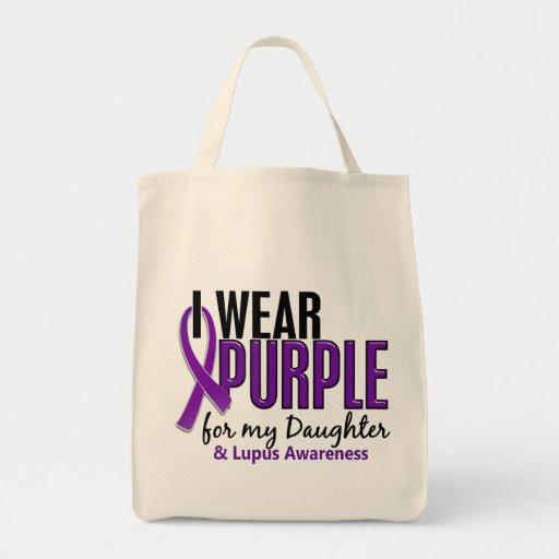 Llevo la púrpura para mi lupus de la hija 10 bolsas