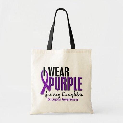 Llevo la púrpura para mi lupus de la hija 10 bolsa de mano