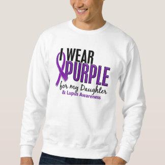 Llevo la púrpura para mi lupus de la hija 10 suéter