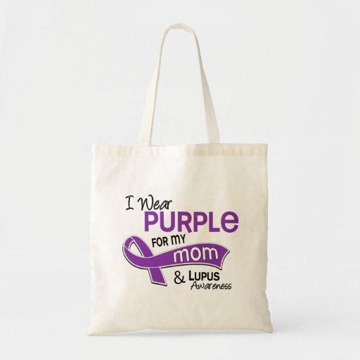 Llevo la púrpura para mi lupus de la mamá 42 bolsa tela barata