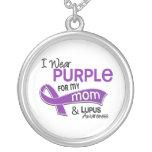 Llevo la púrpura para mi lupus de la mamá 42 colgantes personalizados