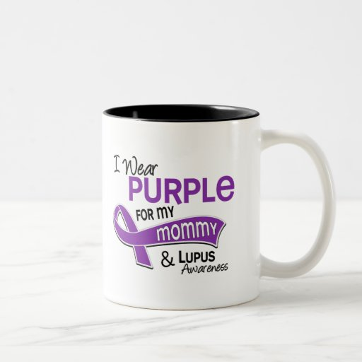 Llevo la púrpura para mi lupus de la mamá 42 tazas de café