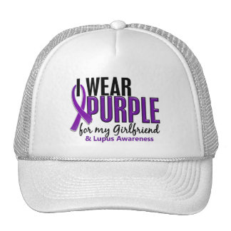 Llevo la púrpura para mi lupus de la novia 10 gorro