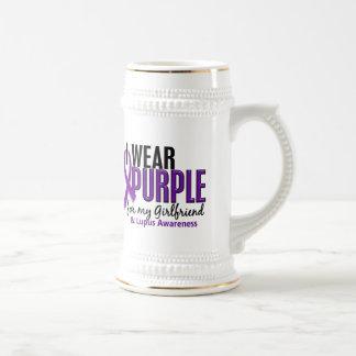 Llevo la púrpura para mi lupus de la novia 10 taza de café