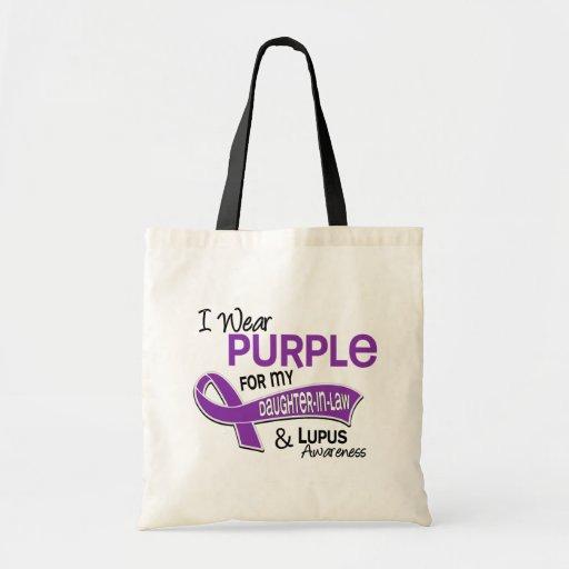 Llevo la púrpura para mi lupus de la nuera 42 bolsa de mano