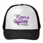 Llevo la púrpura para mi lupus de la sobrina 42 gorros