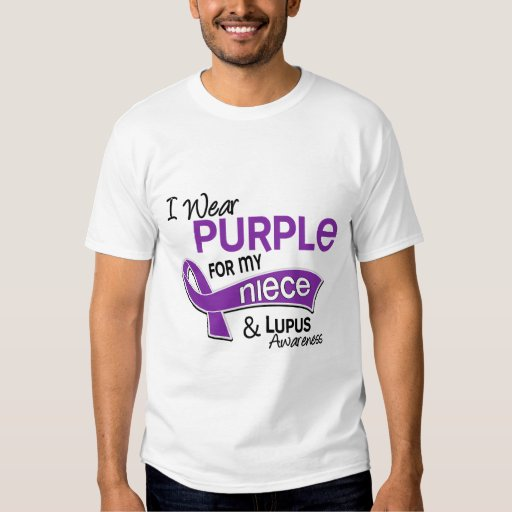Llevo la púrpura para mi lupus de la sobrina 42 poleras