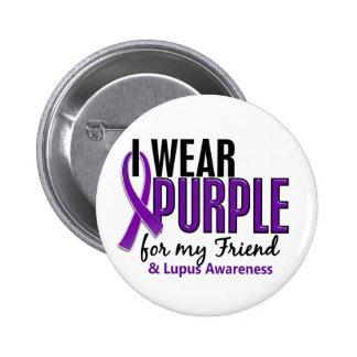 Llevo la púrpura para mi lupus del amigo 10 pin redondo de 2 pulgadas