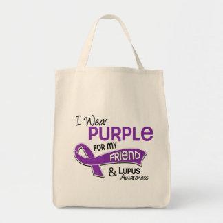 Llevo la púrpura para mi lupus del amigo 42 bolsa tela para la compra