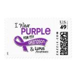 Llevo la púrpura para mi lupus del nieto 42 timbre postal